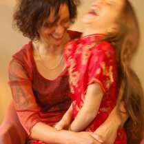 Clara + Mom laughing